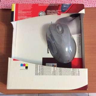Microsoft Optical Mouse blue