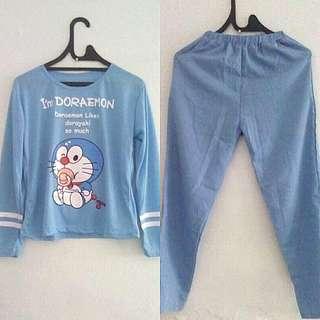 Baju Tidur Celana Panjang Biru