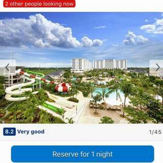 Jpark Resort and Waterpark Mactan Gift Certificate Voucher Overnight with Breakfast