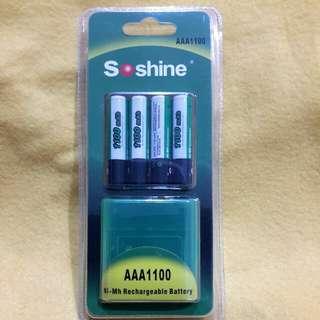 Soshine AAA Rechargeable  Battery (1100 mah)