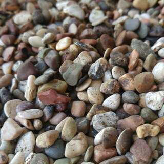 Pebbles for plant. Fish tank