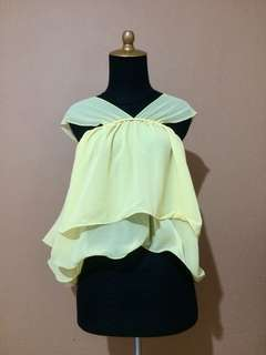 Yellow Ruffle Shirt