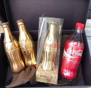 Coca Cola Gold Collectibles set of 4