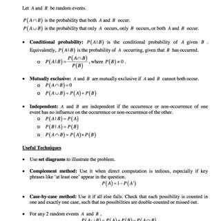 RJC Mathematics Revision/Summary Notes