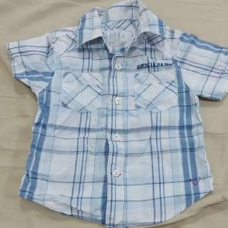 Free postage: Guess boy checked shirt
