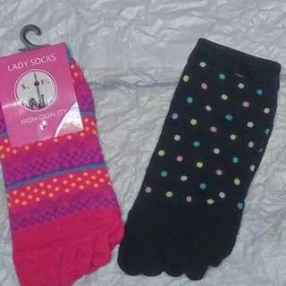 100%new Socks 5指襪
