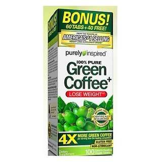 100% Pure Green Coffee Bean Weight Loss Supplement Non-Stimulant