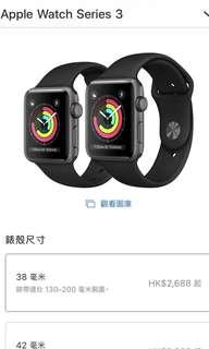Apple Watch Series3  38mm(9成新)