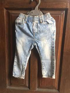 Washed Olive Jeans