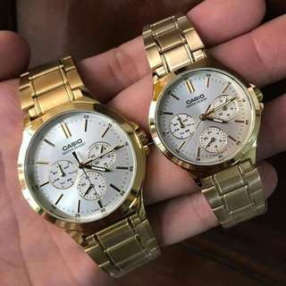 Casio Analog Gold Dial Watch