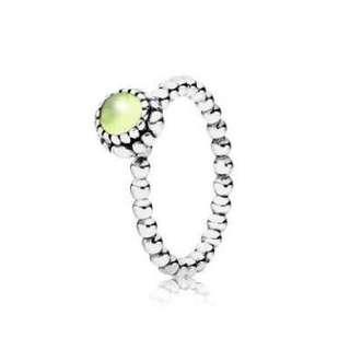Pandora August Birthstone Ring