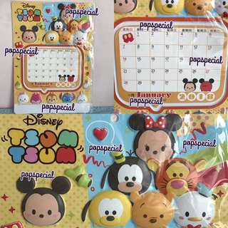 Last SET 2018 Disney Tsum Tsum Characters Wall Calendar
