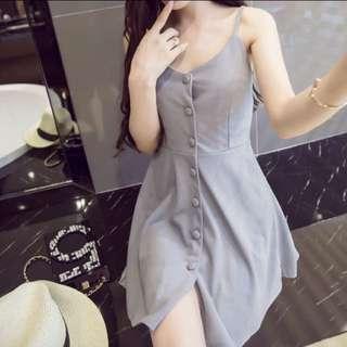 INSTOCK Button Down Dress (Grey)