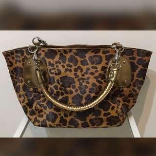 Leopard animal print Shoulder bag大底豹紋掛肩袋