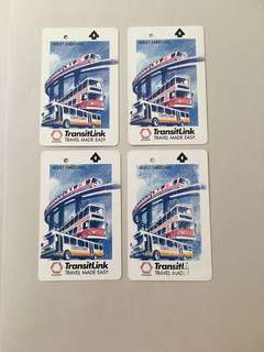 Vintage transitlink card x 4 bus train design