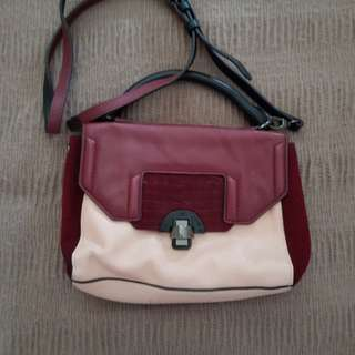Mimco Pink and Red Hip Bag
