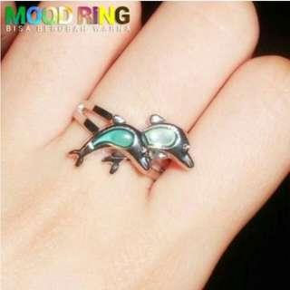 NEW - Cincin Mood Ring Dolphin Shape Bisa Berubah Warna