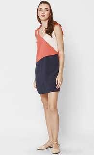 Love Bonito Bealla Colour Block Dress - Colour : Vermilion, Size : XS