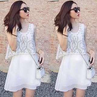 Chiffon Stud Dress