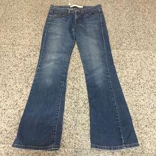 Levis 518 ladies super low boot cut jeans