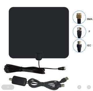 Digital tv antenna with booster