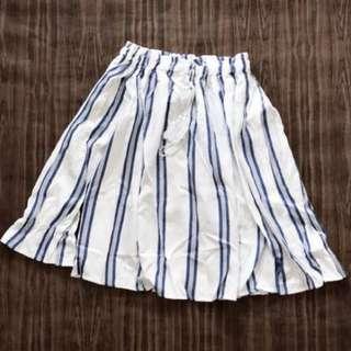 Vintage Thrift stripes tassel Off Shoulder Top