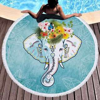 大象加厚野餐墊沙灘墊瑜珈墊地毯