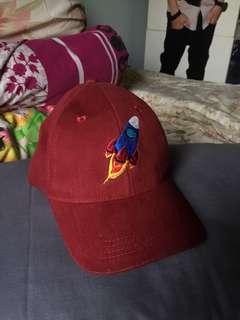 Maroon rocket cap