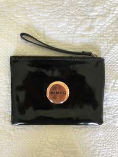 Mimco Black medium patent leather pouch
