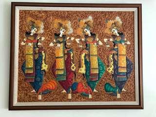 Original Oil Painting - Balinese Dancers