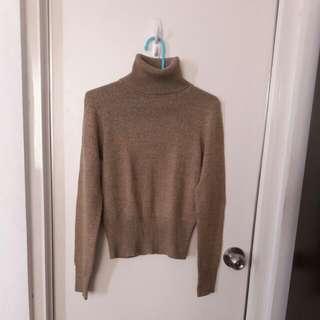 Calvin Klein Jeans / 復古色 高領毛衣 很難形容的顏色