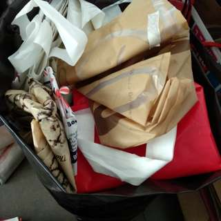 (Free) Assorted Paper and Plastic carrier