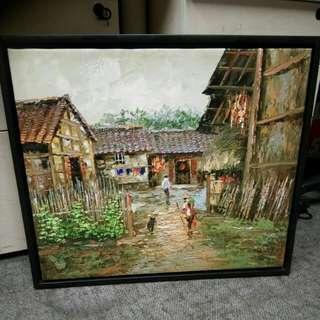 農村题材油畫-張