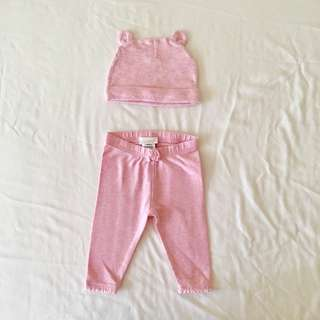 Baby Girl Hat + Leggings Set