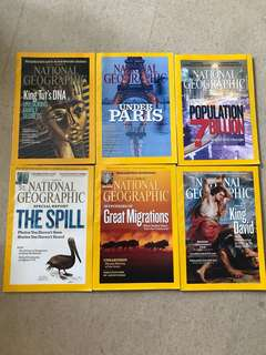 National Geographic Magazine Sep 2010 - Feb 2011