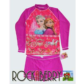 Disney's Frozen Elsa and Anna Girl's Rashguard Set