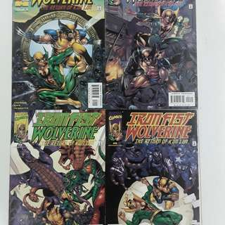 Iron Fist Wolverine (2000) Comics Set