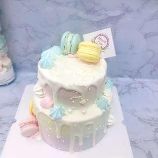 生日蛋糕 雙層蛋糕百日宴派對婚宴