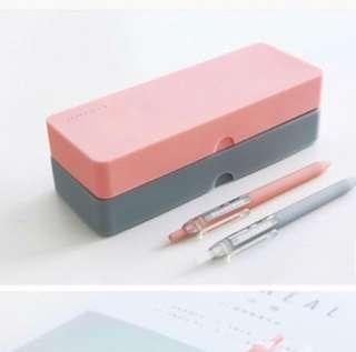 Silicon grey pencil case