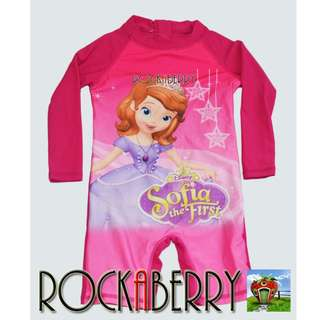 SOFIA the FIRST Overall Girl's Rashguard Rash Guard Swimwear