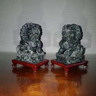 Jade stone Chinese lion