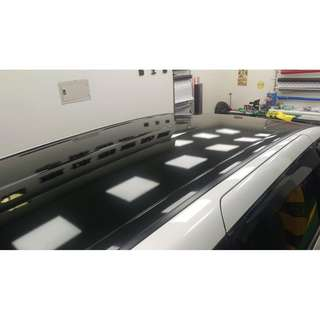 【騰信車體包膜】Honda Odyssey 車頂美國AVERY高亮黑包膜