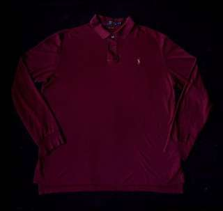 Ralph Lauren Pima Soft Touch Suede Pocket Long Sleeve Polo