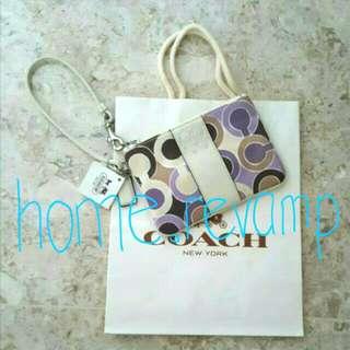 ♳Brand New Authentic Coach Wristlet + Coach Paper Bag