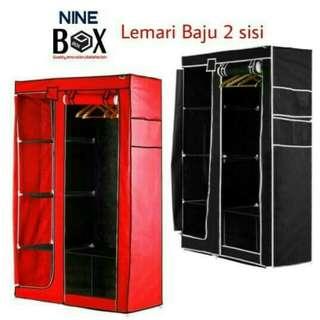 Lemari baju/storage box/rak pakaian merk nine book