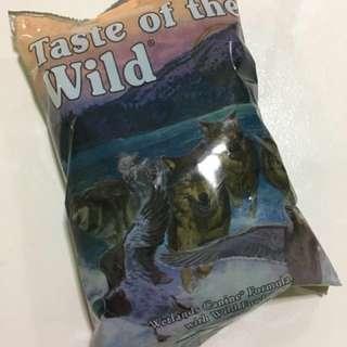 Taste of the wild dog food Sample