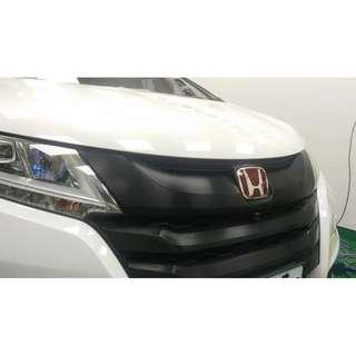 【騰信車體包膜】Honda Odyssey 水箱護罩3M1080髮絲黑包膜