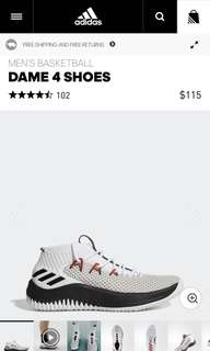 Dame 4 BY3769 Pre sale (us6.5/7.5)