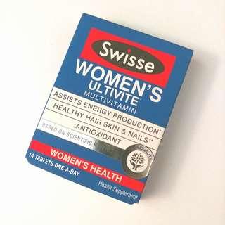 【包郵】女性 綜合維他命丸 - 14粒裝 Swisse Women's Multivite Multivitamin