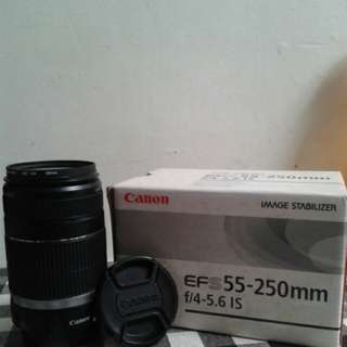 CANON LENS EF-S 55MM-250MM f/4 -5.6 IS